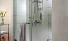 Phòng tắm kính mở quay cánh 90 độ