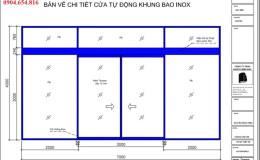 Bản vẽ cửa tự động File CAD