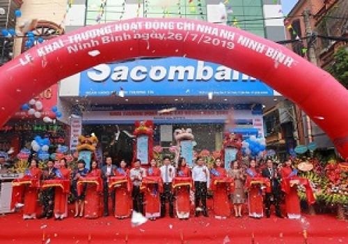 Lắp đặt cửa tự động Sacombank Ninh Bình